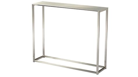 36 inch console table sancha 36 inch brushed aluminum console table zuri furniture