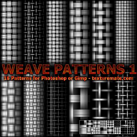 pattern brush gimp weave 1 pattern set for photoshop or gimp texturemate