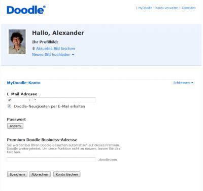 doodle konto login kostenlose e mail adresse erstellen