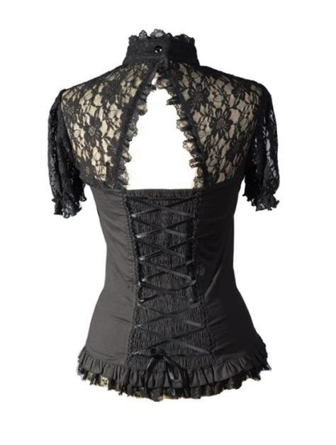 Trend Black Lace Goes Chic by Black Lace Sleeves Corset Style Womens