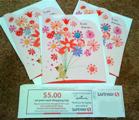 Safeway Gift Card Buy Back List - safeway buy three hallmark cards get 5 off your next order 3 cards for 0 97