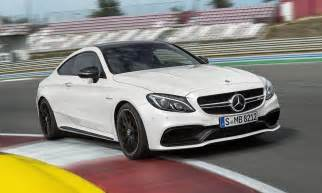 new 2017 mercedes c63 amg coupe speeds after bmw m4