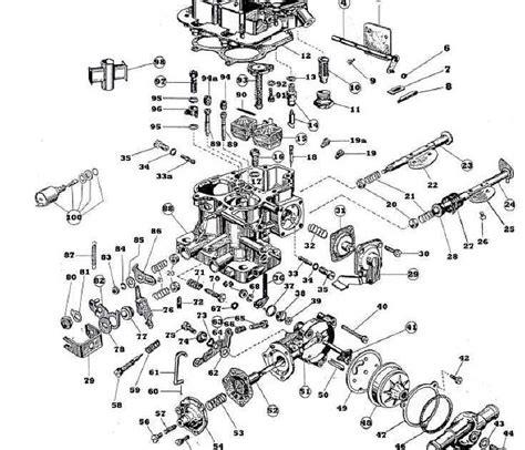 ajuste de motor despiece carburador toyota hilux ajuste de motor despiece carburador weber 32 36 dgev
