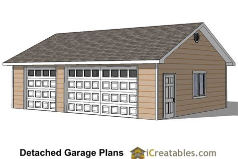 free 3 car garage plans 24x34 garage plans 3 car garage plans 2 doors
