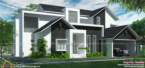 western style modern home kerala home design and floor plans