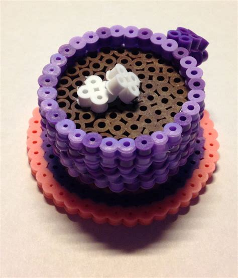 3d perler bead creations 3d perler bead cocoa cup by perliergirl on etsy