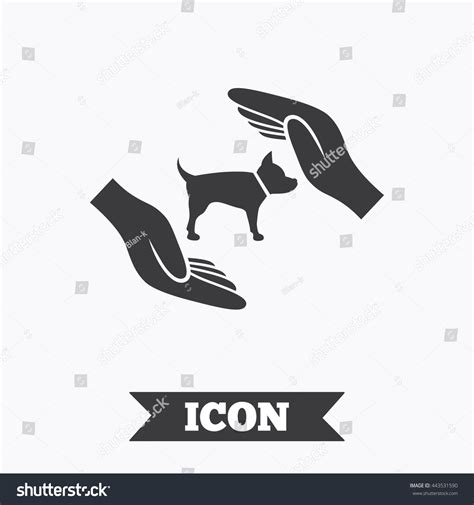 dogs symbol protection animals pets sign icon stock vector