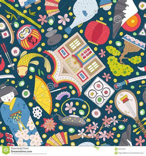 cute japanese pattern japanese seamless pattern stock illustration illustration