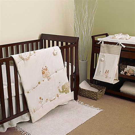 Safari Nursery Bedding Sets Nature S Purest Sleepy Safari 4 Crib Bedding Set Buybuy Baby