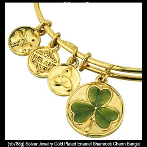 gold plated wire for jewelry gold plated shamrock charm wire bangle bracelet solvar