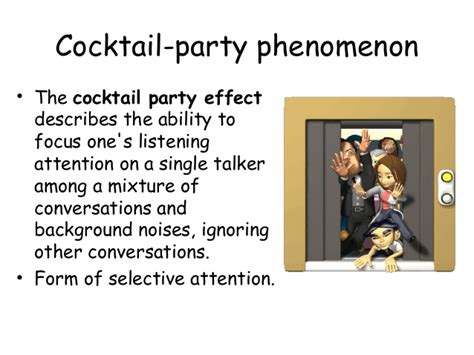 cocktail phenomenon psychology sensation perception