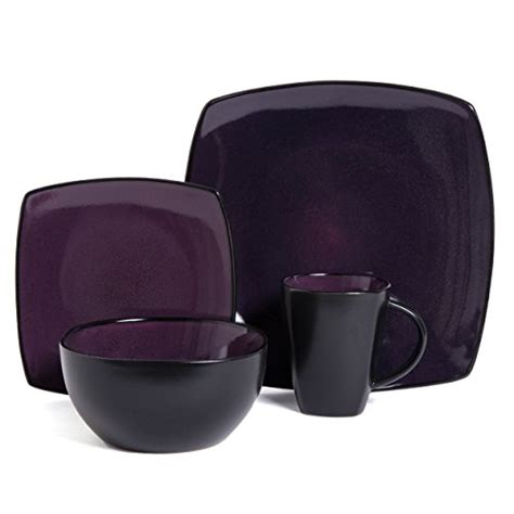 L 16 01 Set gibson soho lounge 16 square reactive glaze
