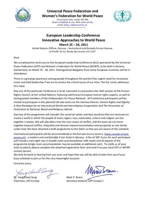 Un Conference Invitation Letter Human Rights Conference In Geneva At Un March 2011 Invitation