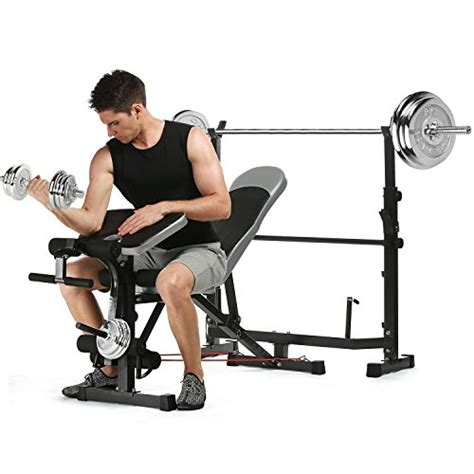 workout bench with preacher curl ancheer olympic weight bench multi function workout bench