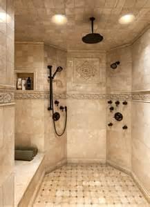 Master custom tile shower dream houses pinterest