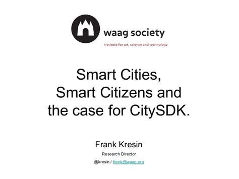 smart city use cases smart city studies and development notes books smart cities smart citizens and the for the citysdk