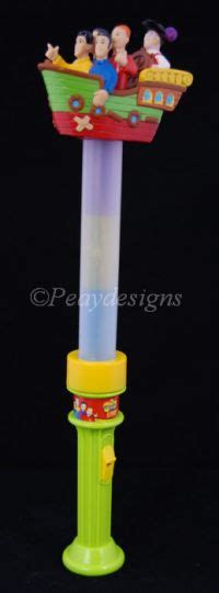 The Wiggles Lights by Le Chat Noir Boutique Wiggles Live Light Up Stick Wand Toys Wiggleslightupwand