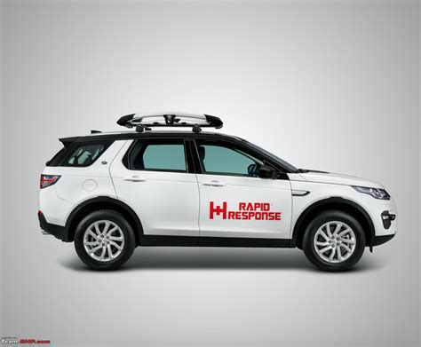 land rover discovery sport loaned  disaster relief work