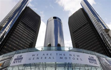 Chevrolet Corporate Office by Detroit Mi Automaker General Motors Stock Up 15 Percent