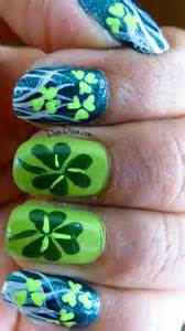 st patrick s day special shamrock nail art with step by