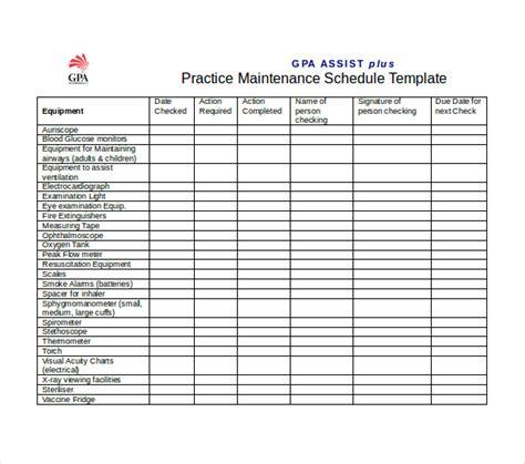vehicle maintenance schedule template excel printable receipt template