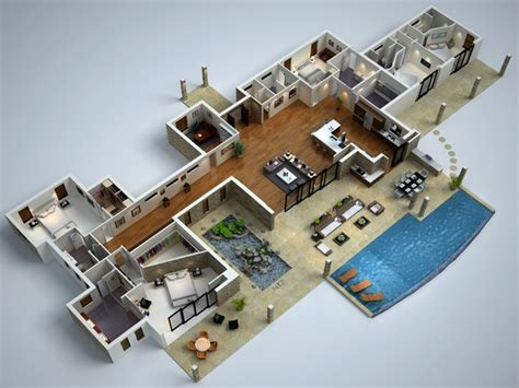 3d floor plans for houses modern house floor plans modern 3d floor plans modern