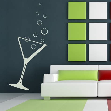 sticker for glass wall cocktail glass bubbles drink kitchen wall sticker wall decal transfers ebay