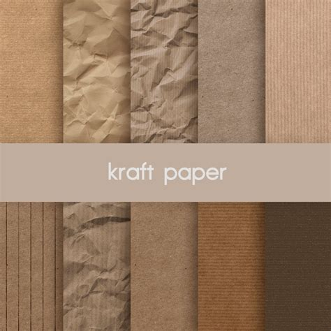 How To Make Kraft Paper - digital kraft paper kraft paper textures paper by nutsclipart