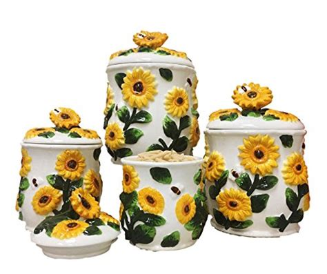 sunflower kitchen canisters sunflower kitchen accessories and decor color and style