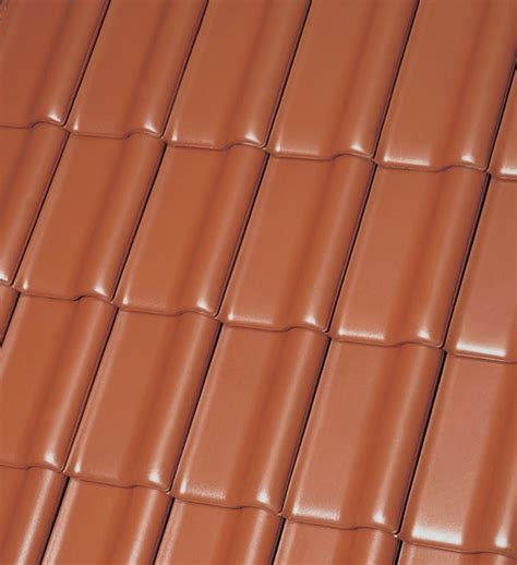 dachziegel rot engobiert flandern plus rot engobiert gro 223 flachdachziegel
