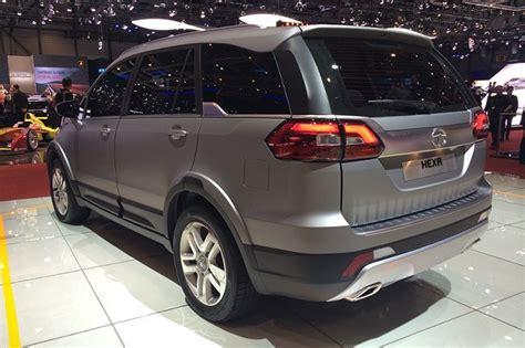 car models names in india tata based hexa suv unveiled at 2015 geneva motor