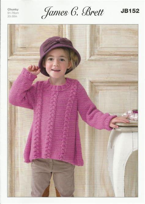 free knitting patterns sweaters uk james c brett girls sweater knitting pattern in chunky