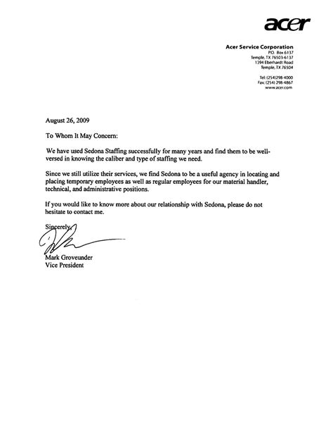 Reference Letter For Temporary Employee Reference Letter For Employer Cover Letter Templates