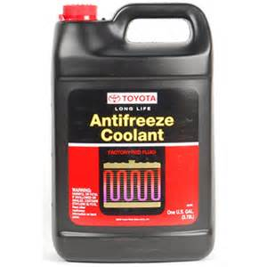 what color is coolant what color antifreeze for toyota camry