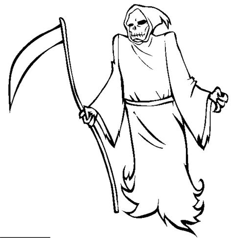 grim reaper halloween coloring pictures