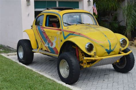 volkswagen buggy yellow yellow volkswagen competition baja bug dune buggy with