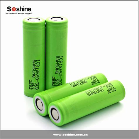 Samsung Icr 18650 30b Li Ion Battery 3000mah 3 7v With Flat Top original samsung icr18650 30b 18650 3000mah 3 7v li ion rechargeable battery samsung sdi 18650