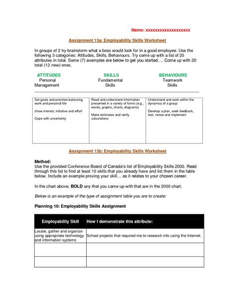 Skills Worksheets by 20 Handwriting Worksheets Template Free Printable