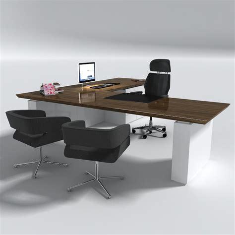 Desk 3d Model by Manager Office Desk Table Set 3d Model