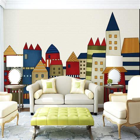 custom 3d elephant wall mural personalized giant photo aliexpress com buy cartoon little house wallpaper giant
