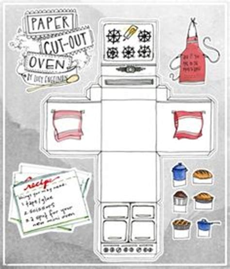 How To Make A Paper Oven - free printable paper cutout oven this would be a