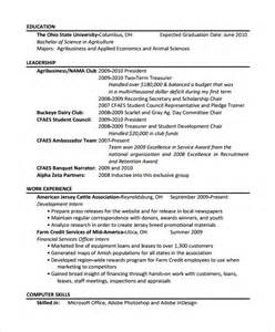 10 agriculture resume templates free pdf word samples