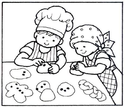 imagenes de niños jugando con globos para colorear ni 241 os haciendo galletas dibujalia dibujos para