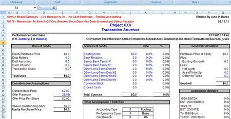 financial business template microsoft word and excel 10 business plan templates