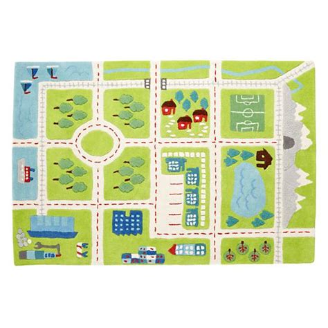 Interactive Play Rug by Rugs Town Activity Rug Features Roads Trees