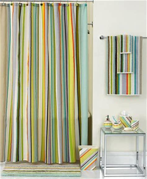 cabana stripe shower curtain echo bath collection cabana stripe shower curtain macy s