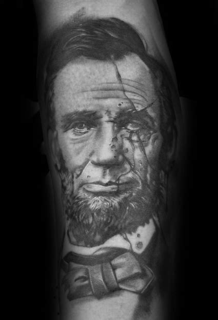 lincoln tattoo 40 abraham lincoln designs for presidential ideas