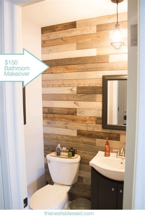Pallet Wall Bathroom Bathroom Plank Wall