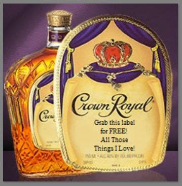 printable crown royal label free personalized labels for your crown royal bottles