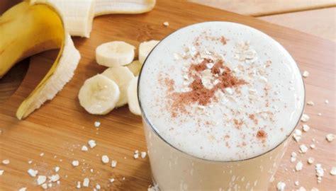 cara membuat yogurt instan smoothie pisang oat yang bikin kenyang tempo cantik